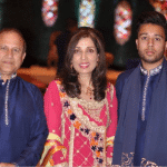 Pictured,  Nasir Siddique far left, his wife, and son Farhad Siddique far right.