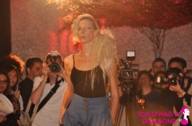 Fixx samples the crowd and the clothes at Eco Vert Fashion Show