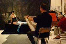 Flamenco stars at Soho Art Salon Party.