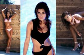 Elisabetta Canalis- trophy girlfriend of the week.
