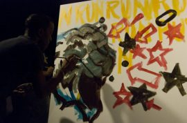 TY KU Sake and some Art Battles.