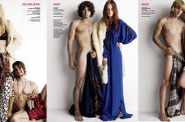 NY Mag gets excited over V magazine's display of boring naked male models.