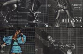 Rihanna Goes topless in Italian Vogue.