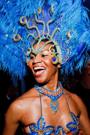 Brazilian Carnaval dancers at El Museo Del Barrio's Die de los M