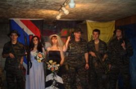 A militant's wedding photos are finally here.