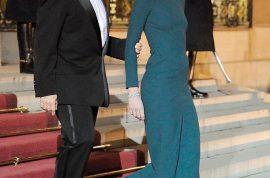 Carla Bruni's tight dress has heads turning.