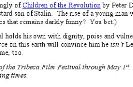 At Tribeca- Marxism never had it so good with 'the Trotsky.'