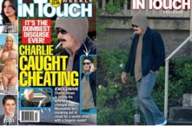 Is it a good idea to wear a thick hairy moustache and a hooded sweat top when carrying an affair behind your wife's back? Hanging out with Charlie Sheen.