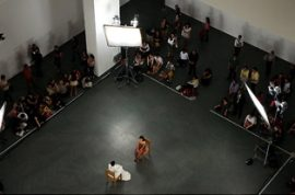 Marina Abramovic's performance ends in vomit.