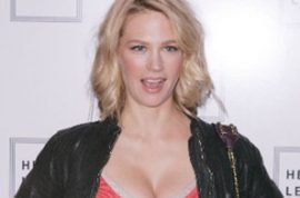 January Jones causes a 4 car pile up and then bolts.