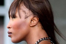 Naomi Campbell is now going bald!
