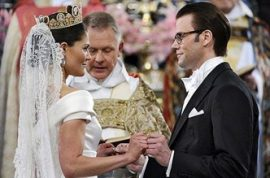Princess Victoria of Sweden marries a commoner.