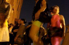 Delightful mayhem at the Kenny Scharf art dance party.