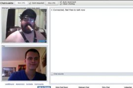 Chatroulette issues warning to perverts.