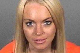 The Lindsay Lohan mugshot T-shirt is finally here.