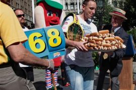 Will you be competing at the Nathan's Hot Dog eating competition?