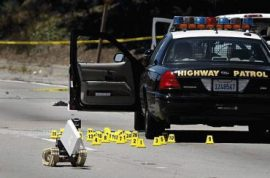 Byron Williams opens fire on California Highway Patrol officers.