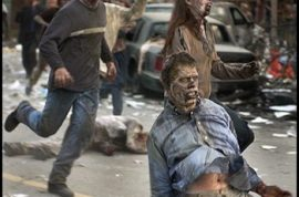 Car full of zombies crashes in downtown Portland.