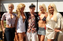 Hugh Hefner wants you to understand that women have always been sex objects.