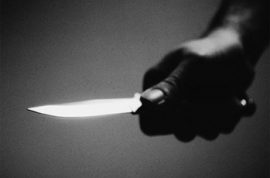 Intruder with 2 big knives enters Parasite Hilton's LAX home.