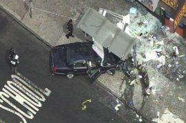 Bronx livery cab crashes. 1 dead, 6 critically injured.
