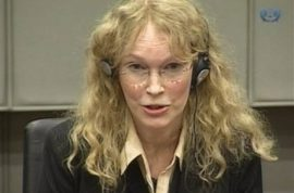 Mia Farrow claims that Naomi Campbell had knowledge of dictator Charles Taylor's Blood Diamonds.
