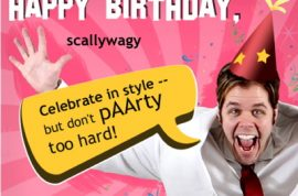 Even Perez Hilton wants to wish Scallywag happy birthday!