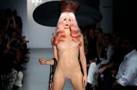 London Fashion week; Charlie Le Mindu. How naked can you get?