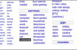 Craigslist removes its adult ads section.
