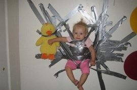 Teenage Mother Jailed for Sticking Baby to the Wall with Duct Tape