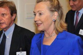 Has anyone noticed Hillary Clinton's new hair clip?