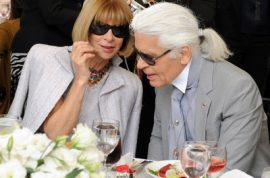 Karl Lagerfeld honored at F.I.T luncheon.