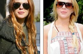 Lindsay Lohan Dyes Her Hair its Natural Color