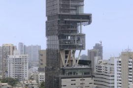 India's richest man Mukesh Ambani moves into a billion dollar home.