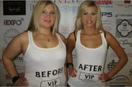 Before and after models want to show you how to lose weight.
