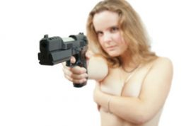 Kansas City Hold-Up Robber Uses Bare Breasts, a BB Gun