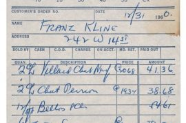 What's in this booze receipt from New Years Eve 1961?