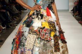 Louda Larrain glams the Global Fashion show at F.I.T.