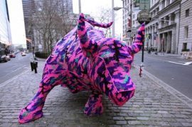 Olek Tames the Charging Wall Street Bull