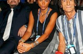 Ronnie Wood wants to introduce you to his new girlfriend.