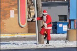 Have you had the pleasure of meeting 'Dancing Santa' yet?