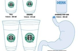 Starbucks would like you to now start buying their new and improved bucket size coffee.