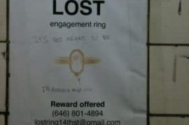 Lost engagement ring.