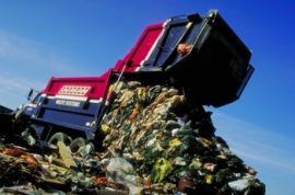 Homeless man found trapped inside garbage truck.