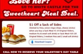 Will you be spending Valentine's day at White Castle?