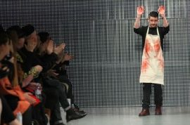 It's time for squealing pigs, bloody models and yours truly the Charlie Le Mindu fashion show.
