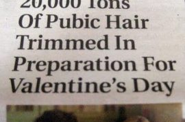 Did you trim your pubic hair this Valentine's day?
