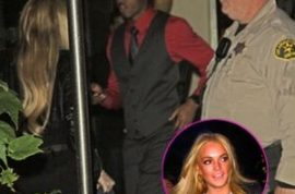 Lindsay Lohan denied entry into exclusive private party.