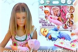 New doll introduced to teach kids how to breastfeed.