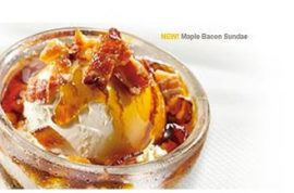 Have you wrapped your tongue around Denny's Maple Bacon Sundae yet?